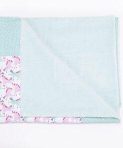 copertina bamboo con gli unicorni rosa e azzurri