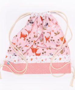 sacchetto cerbiatti e coniglietti rosa