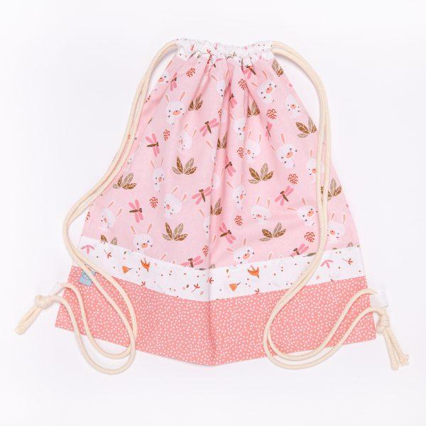 Sacchetto handmade coniglietti rosa