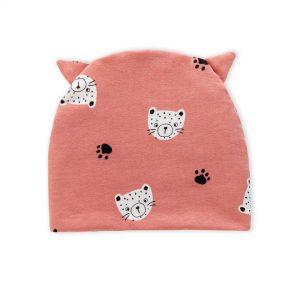 berretto gatto rosa
