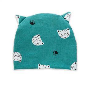 berretto gatto verde